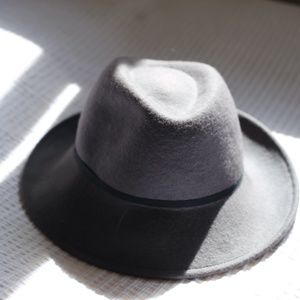 Grey Suede-like Fedora